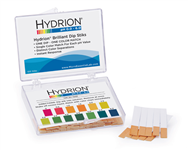 Hydrion Brilliant Dip Stik Plastic Strip 0-6