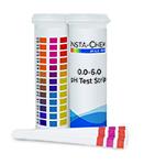 Multi-pad pH strip 0-6
