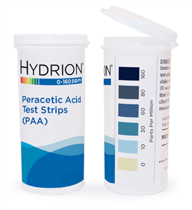 Peracetic Acid (PAA) test strip 0-160 PPM