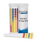 Multi-pad pH strip 0-14
