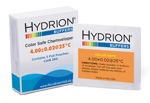Hydrion Buffer Chemvelopes, Color Safe 4.00